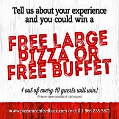 Pizza Ranch Guest Satisfaction feedback 2021